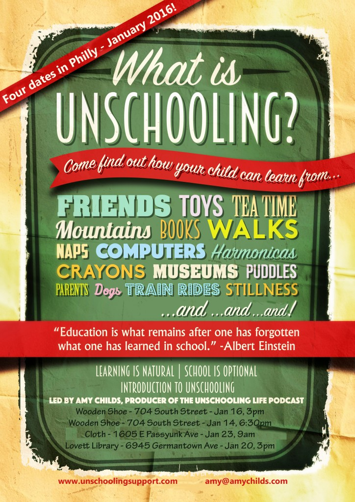 unschooling january 2016